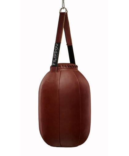Боксерская груша FILIPPOV-DYNASTY Мобильная кожаная