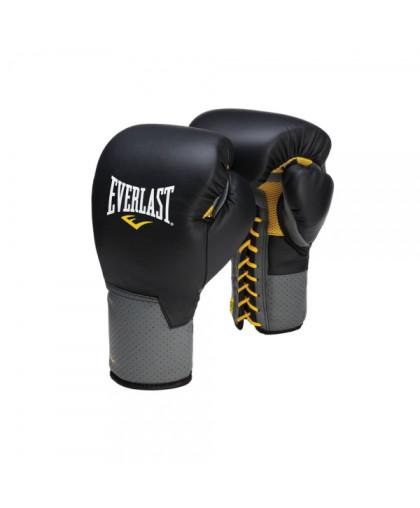 Перчатки боксерские EVERLAST PRO LEATHER LACED на шнуровке