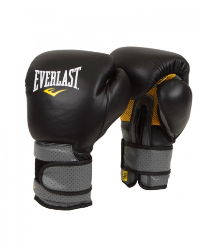 Перчатки боксерские EVERLAST PRO LEATHER STRAP на липучке