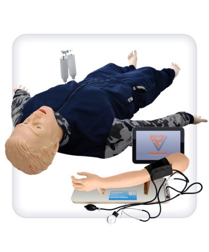 Манекен-тренажер для отработки навыков сестринского ухода и измерения артериального давления